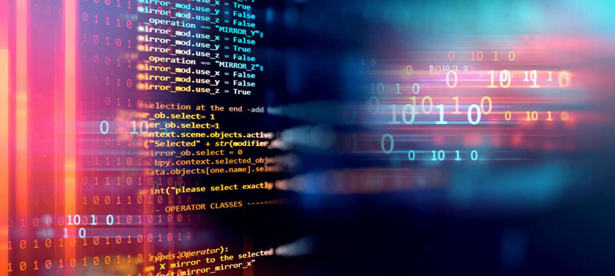 Neon computer text