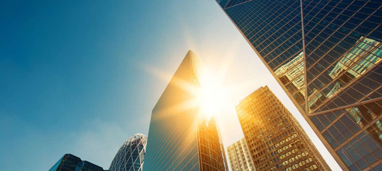 Skyscrapers in sunlight