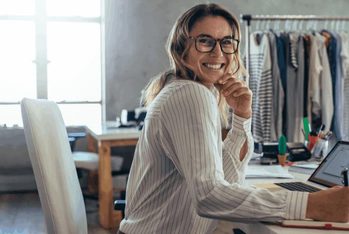 Female ecommerce seller ordering translations