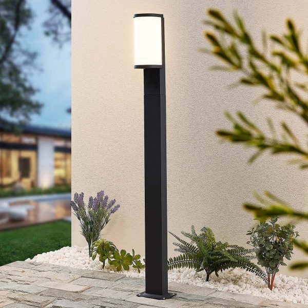 Lucande Jokum -LED-pylväsvalo, IP65, 100 cm
