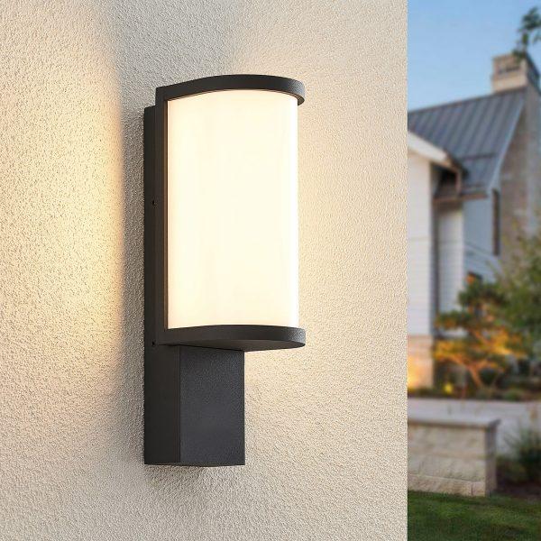 Lucande Jokum -LED-ulkoseinälamppu, IP65