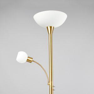 LED-jalkalamppu Elaina messinkiä, lukuvalolla