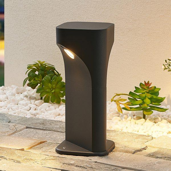 Lucande Valdeta -LED-pollarilamppu, korkeus 30 cm
