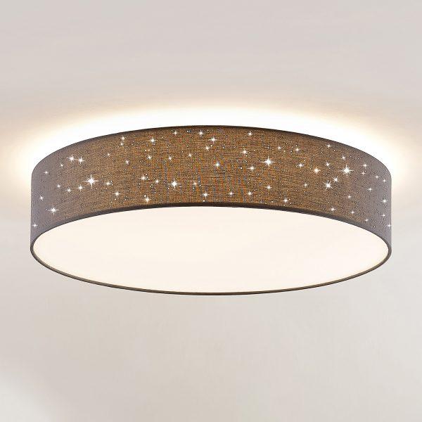 Lindby Ellamina -LED-kattovalo, 60 cm, tumman