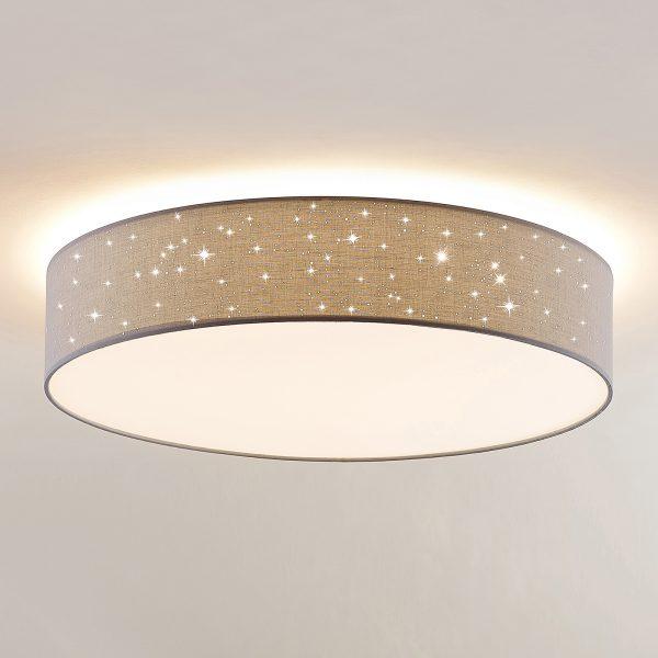 Lindby Ellamina -LED-kattovalo, 60 cm, vaalean