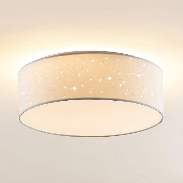 Lindby Ellamina -LED-kattovalaisin 40 cm valkoinen