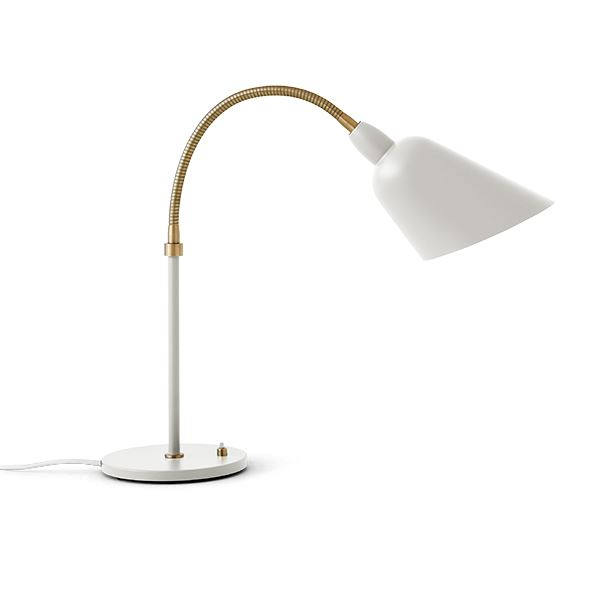 &tradition Bellevue AJ8 Table Lamp Ivory White & Brass
