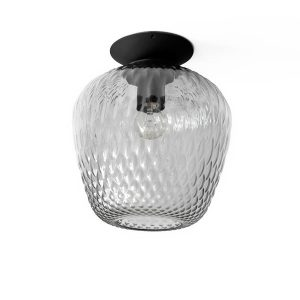 &tradition Blown SW5 Ceiling Lamp Silver Glass