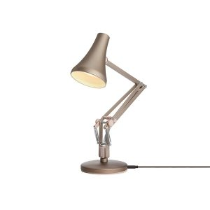 Anglepoise 90 Mini Mini Table Lamp Warm Silver & Blush