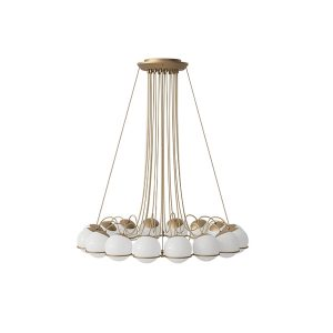 Astep Model 2109/16/14 Ceiling Light Champagne