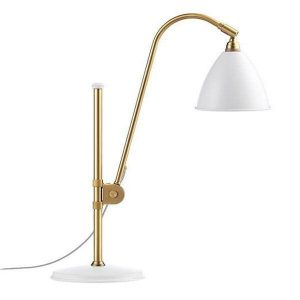 Bestlite BL1 Table Lamp Mat White & Brass
