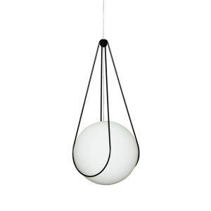 Design House Stockholm Luna Pendant Large with Black Kosmos Holder