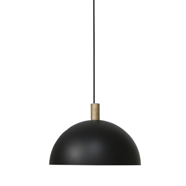 Handvärk Studio Pendant Ø40 Black & Brass