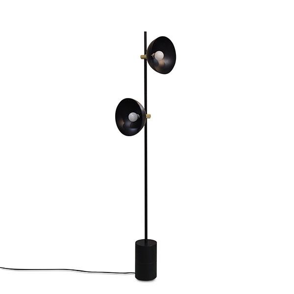 Handvärk Studio Floor Lamp Black & Brass