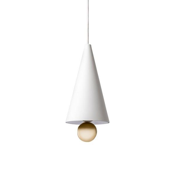 Petite Friture CHERRY SMALL Pendant Lamp White & Gold