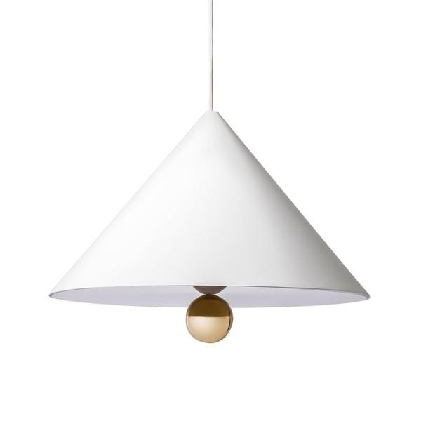 Petite Friture CHERRY LARGE Pendant Lamp White & Gold