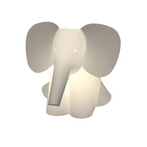 Zoolight Elephant Childrens Wall Lamp