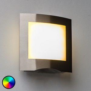 WiZ-LED-ulkoseinävalo Farell ruostum. teräs
