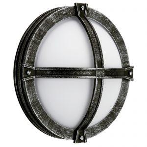 Agneß-ulkoseinävalaisin maalaistalotyyliin musta