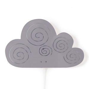 roommate Cloud Silhouette Wall Lamp Grey