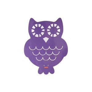 roommate Owl Silhouette Wall Lamp Purple