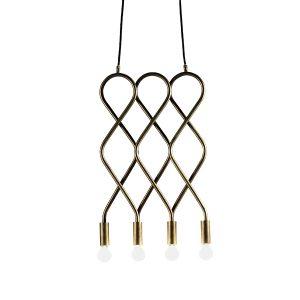Konsthantverk Eld Pendant - 4 Rods Raw Brass