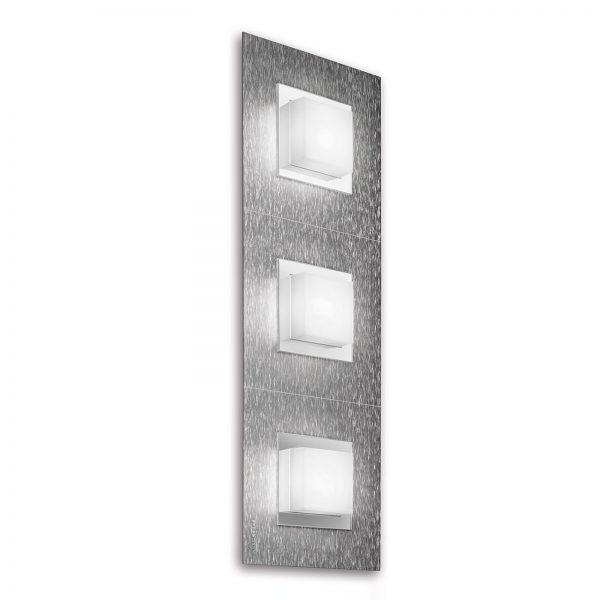 GROSSMANN Basic LED-seinälamppu, 3-lampp., alu