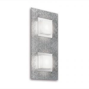 GROSSMANN Basic LED-seinälamppu, 2-lampp., alu