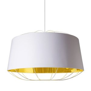 Petite Friture LANTERNA LARGE Pendant Lamp White & Gold