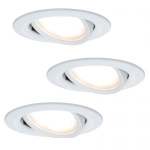 3 kpl LED-uppovalaisin Coin Slim, valkoinen, IP23