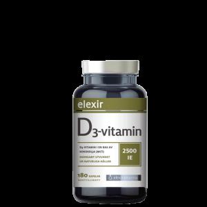 D3-vitamiini 2500 IE, 180 kapselia