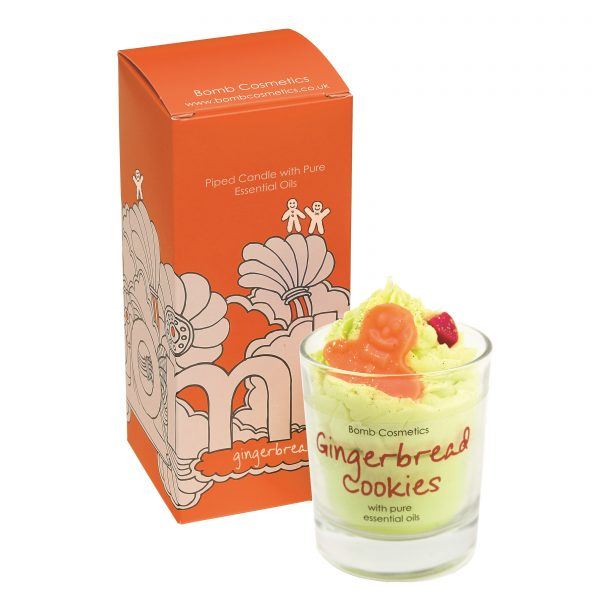 Bomb Cosmetics Gingerbread Cookies Piped Glass Candle 200 g