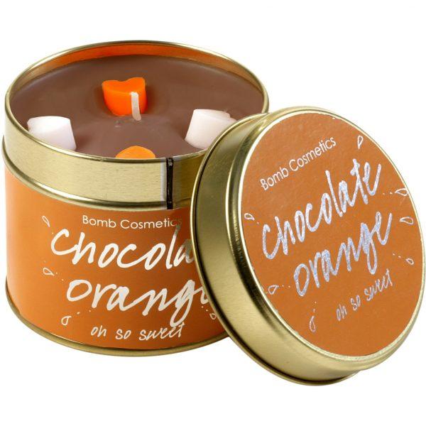 Bomb Cosmetics Tin Candle Chocolate Orange