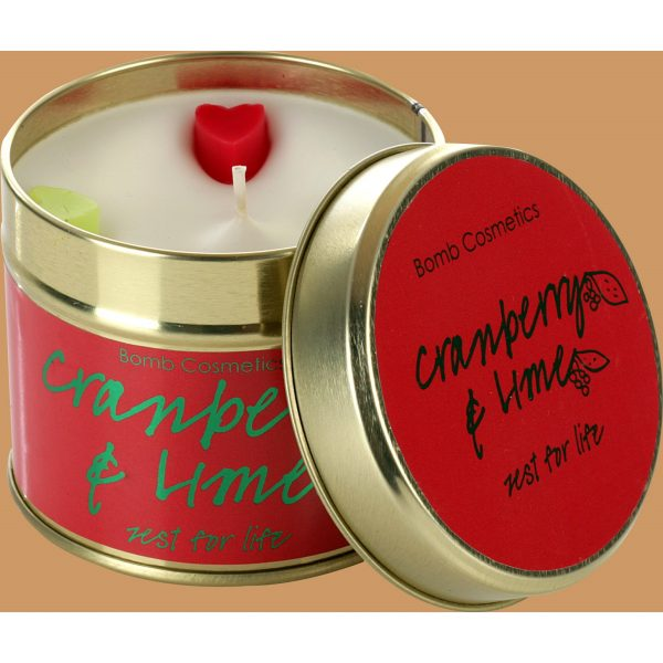 Bomb Cosmetics Tin Candle Cranberry & Lime