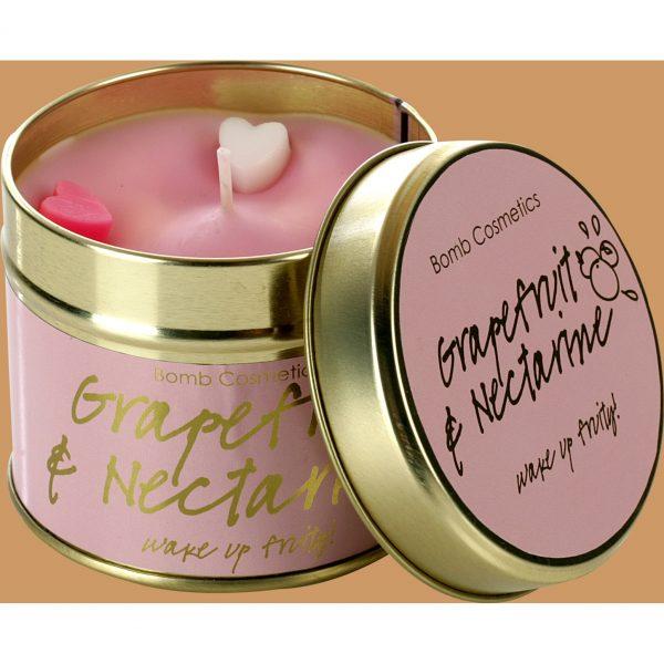 Bomb Cosmetics Tin Candle Grapefruit Nectarine