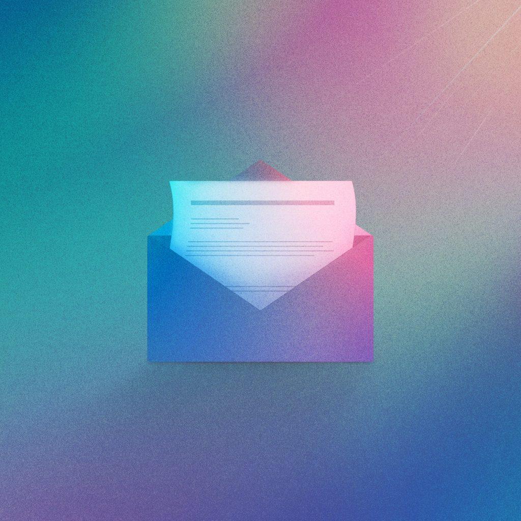 Modern email illustration