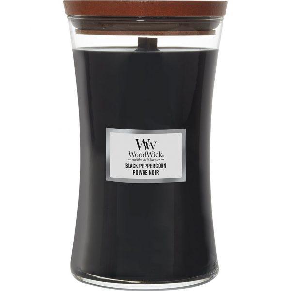 Black Peppercorn, WoodWick Tuoksukynttilät