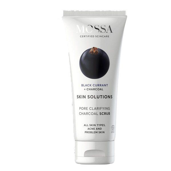 Skin Solutions Charcoal Scrub, 60 ml MOSSA Luonnonkosmetiikka
