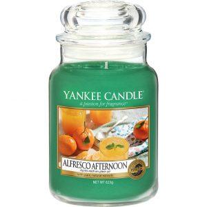 Alfresco Afternoon Large Jar, 623 g Yankee Candle Tuoksukynttilät