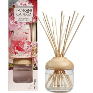 Fresh Cut Roses Reed Diffuser, 120 ml Yankee Candle Tuoksukynttilät