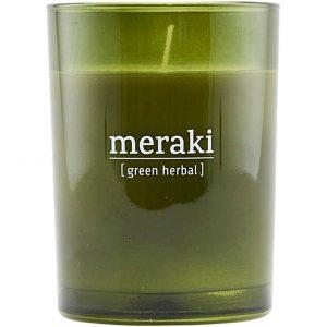 Green Herbal Scented Candle, Meraki Tuoksukynttilät
