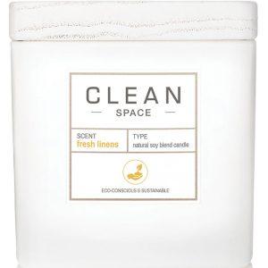 Space Fresh Linens Candle, 227 ml Clean Tuoksukynttilät