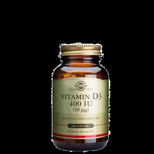 D-Vitamiini, 400 IU, 100 kapselia