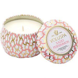 Voluspa Decorative Tin Candle Saijo Persimmon, 99 g Voluspa Tuoksukynttilät