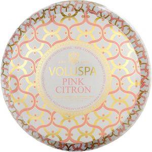 Voluspa 2-Wick Maison Metallo Candle Pink Citron, 312 g Voluspa Tuoksukynttilät