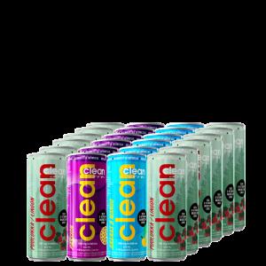 24 x Clean Drink, 330 ml, Eri makuja
