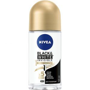 Deo Rollon Black & White Silky Smooth, 50 ml Nivea Roll-on-deodorantit