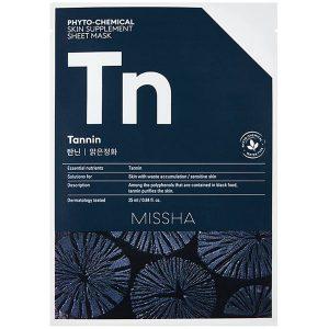Phytochemical Skin Supplement Sheet Mask Tannin, 25 ml MISSHA Vaihe 7: Kangasnaamio