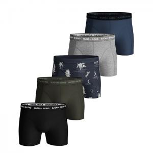 5-Pack Sammy Shorts BB Winter XMAS Print, Mood Indigo