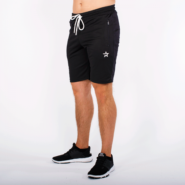 Star Mesh Shorts, Black
